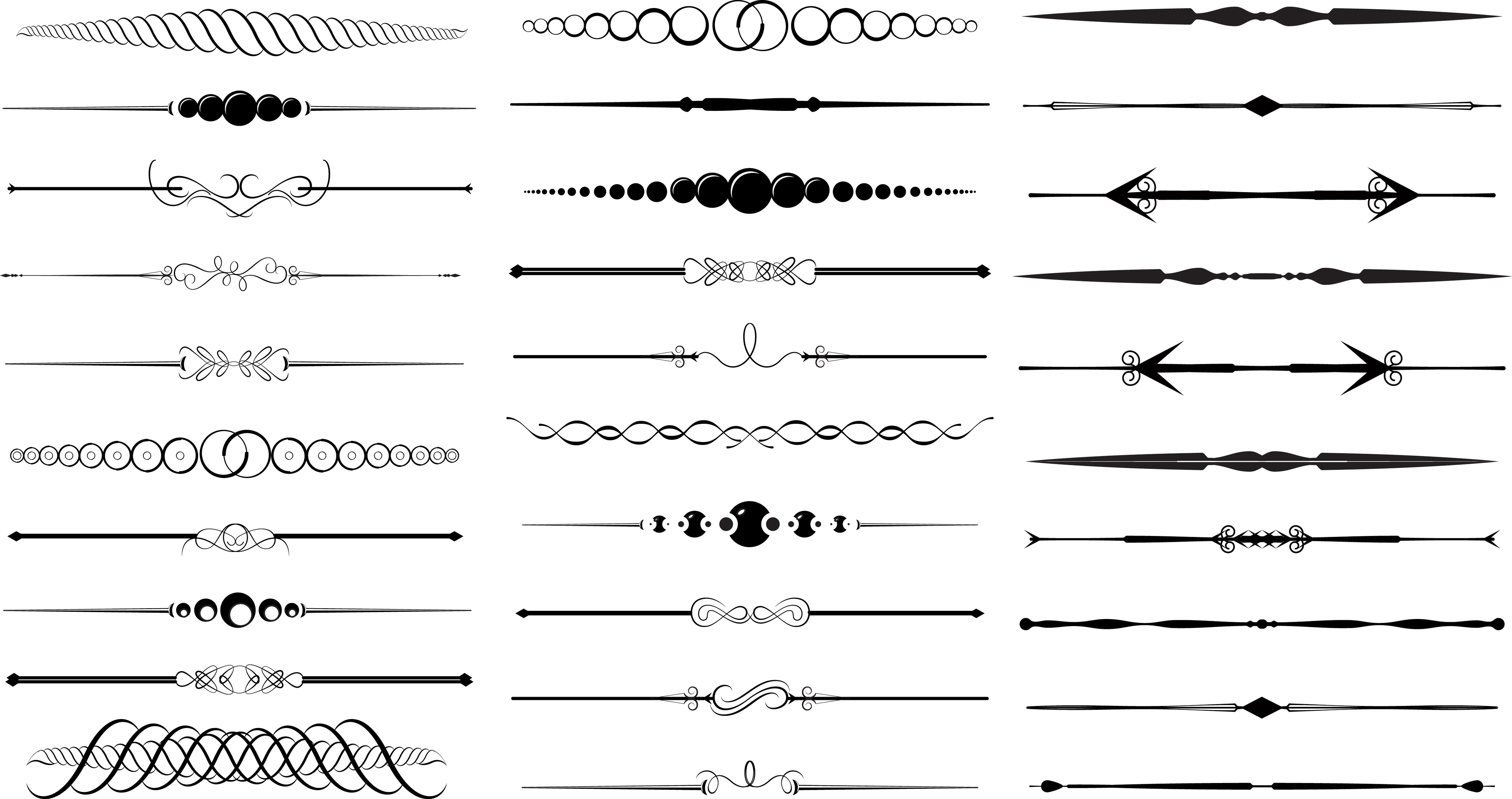 Drawing Vector Lines In Photo Cs : Best images of vintage divider clip art free printable