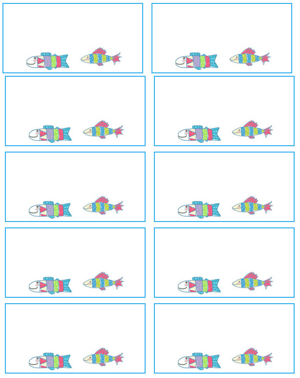 7 Images of Fish Free Printable Labels