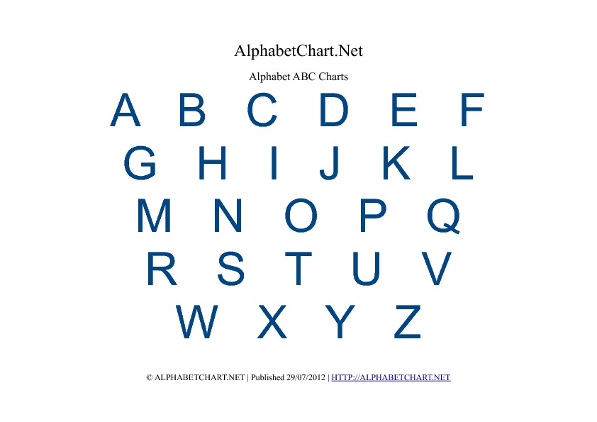 6 Images of Printable Alphabet Charts In Color