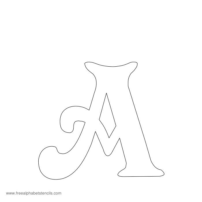 7 Images of Free Printable Alphabet Templates