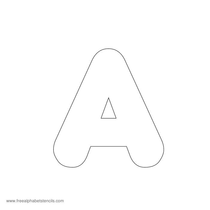 7 Images of Printable Alphabet Stencils