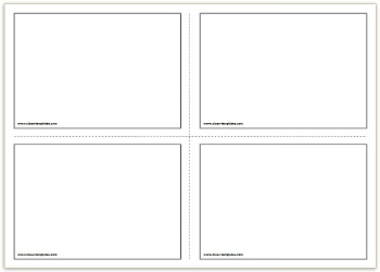 8 best images of printable blank vocabulary cards for Free flash card template