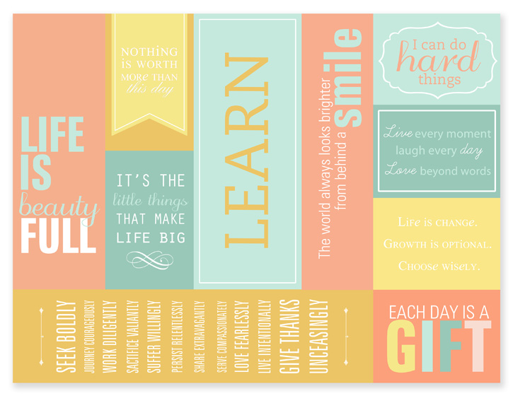 Free Printable Bookmarks with Quotes