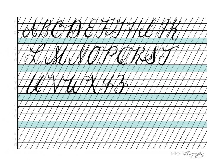 Best images of free printable calligraphy lessons