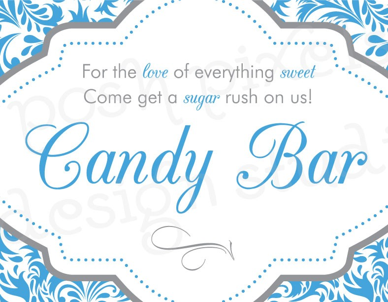 9 Best Images Of Printable Candy Buffet Sign Wedding