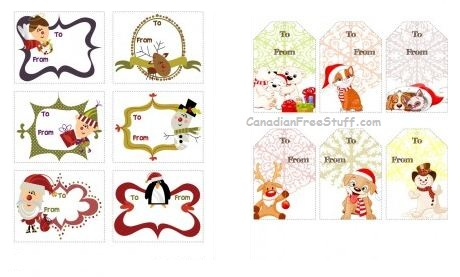 4 Images of Cute Free Printable Christmas Gift Tags