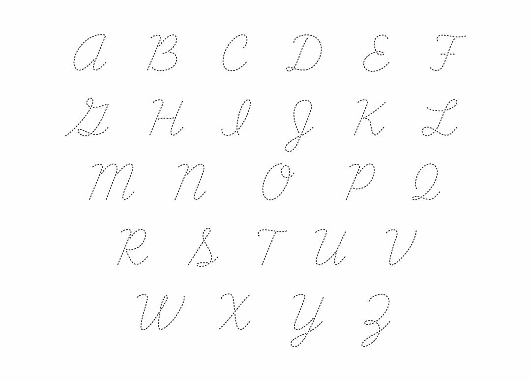 printable cursive letter alphabets alphabet 5 best images of printable cursive alphabet free 803