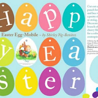 4 Images of Printable Easter Egg Banner