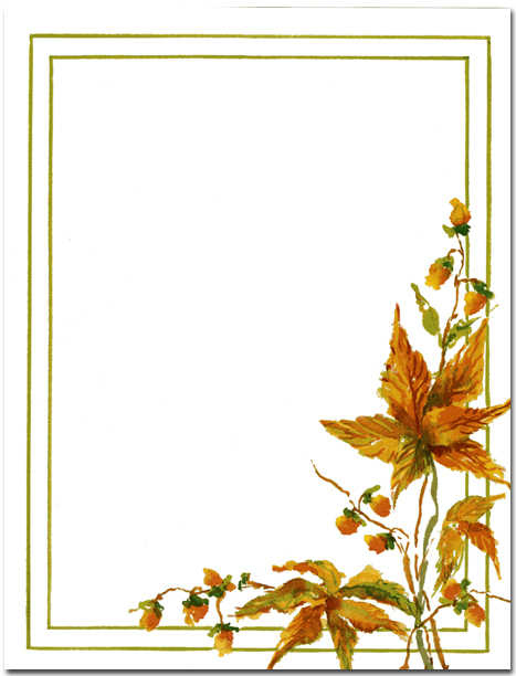 7 Images of Fall Printable Stationery Designs