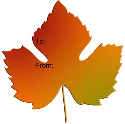 9 Images of Leaf Gift Tag Printables