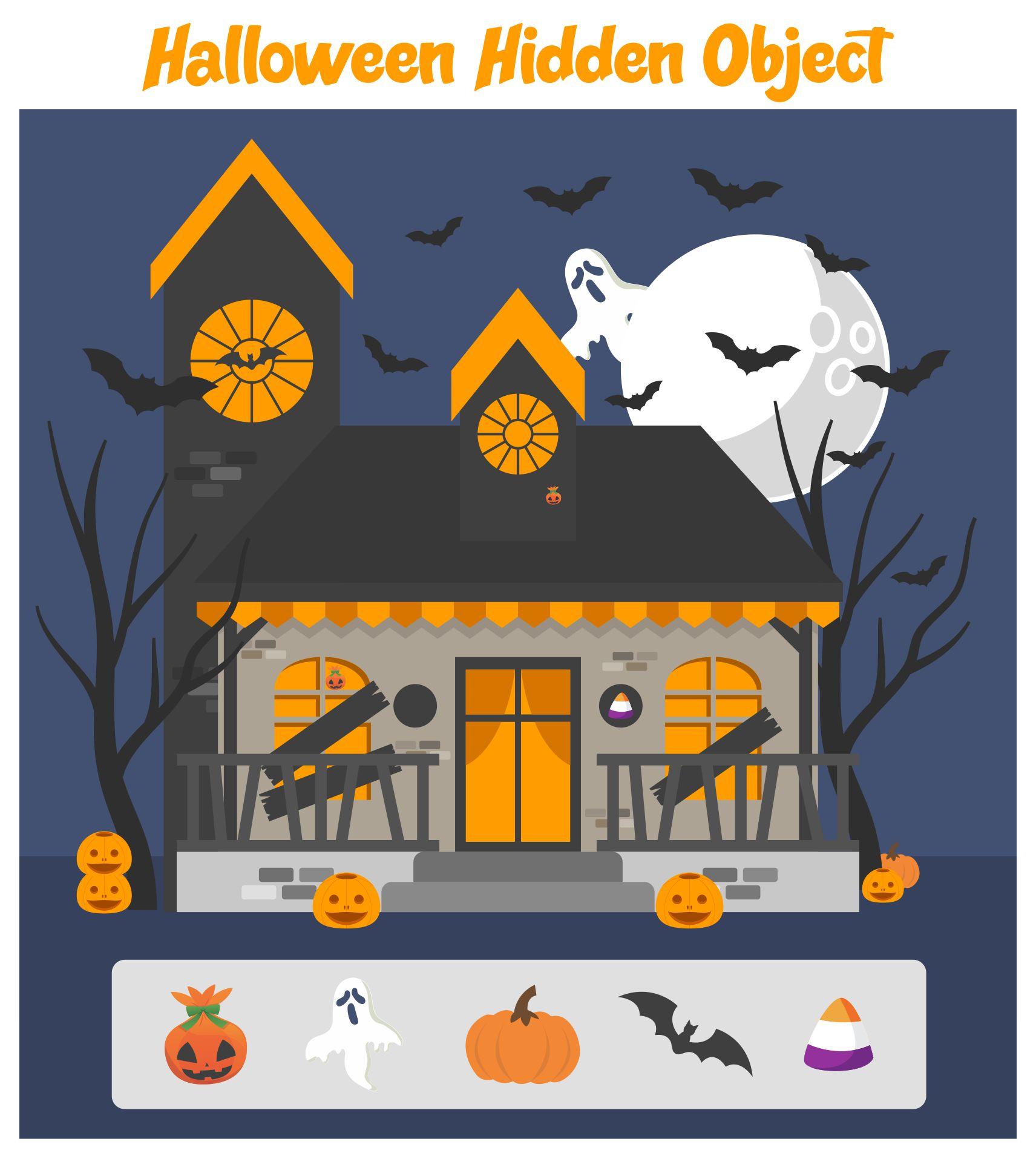 7 Images of Free Printable Halloween Hidden Picture Activities