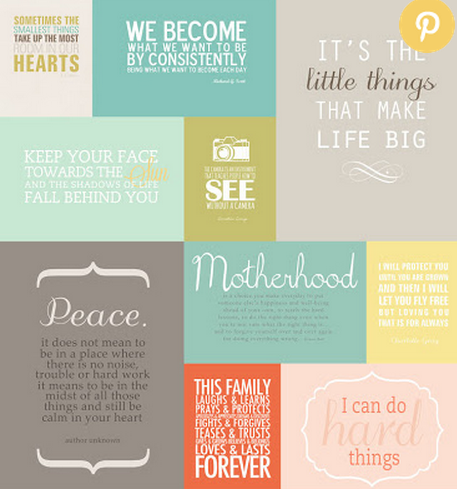 Free Printable Inspirational Cards with Quotes