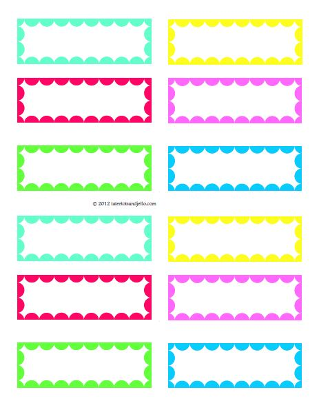 4 Images of Free Printable Stickers Labels