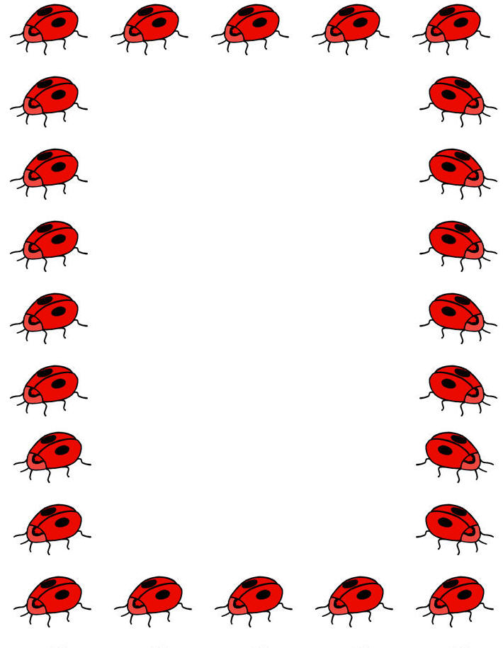 Free Printable Ladybug Border