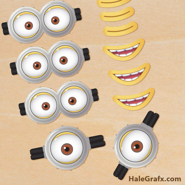 9 Images of Printable Despicable Me Goggles