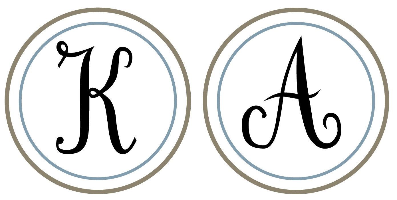 8 best images of printable monogram printable circle for Free monogram template