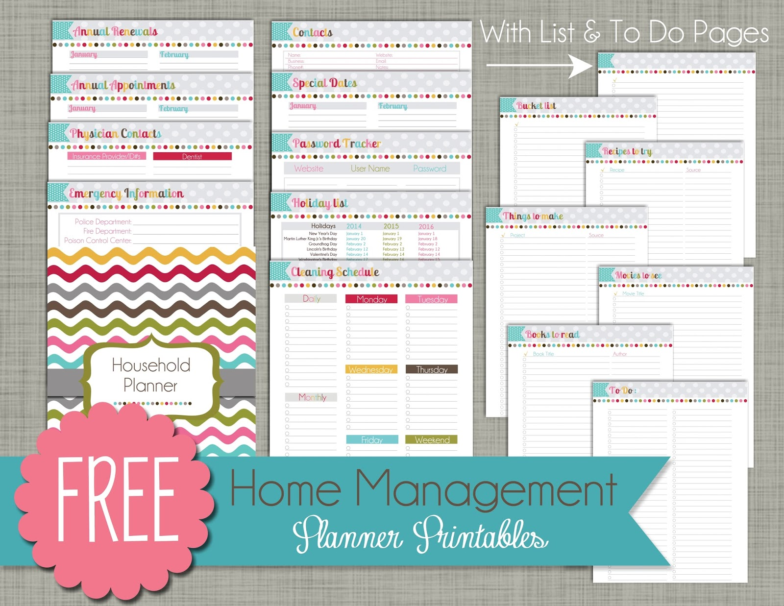 6 Images of Free Personal Planner Printables