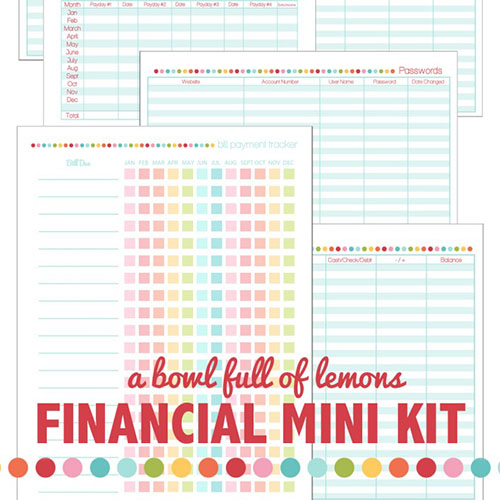 7 Images of Financial Planning Printables