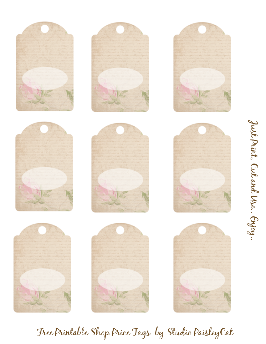 6 best images of price tag templates printable free for Template for price tags