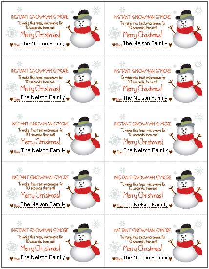 8 Best Images of Printable Snowman Tags - Printable ...