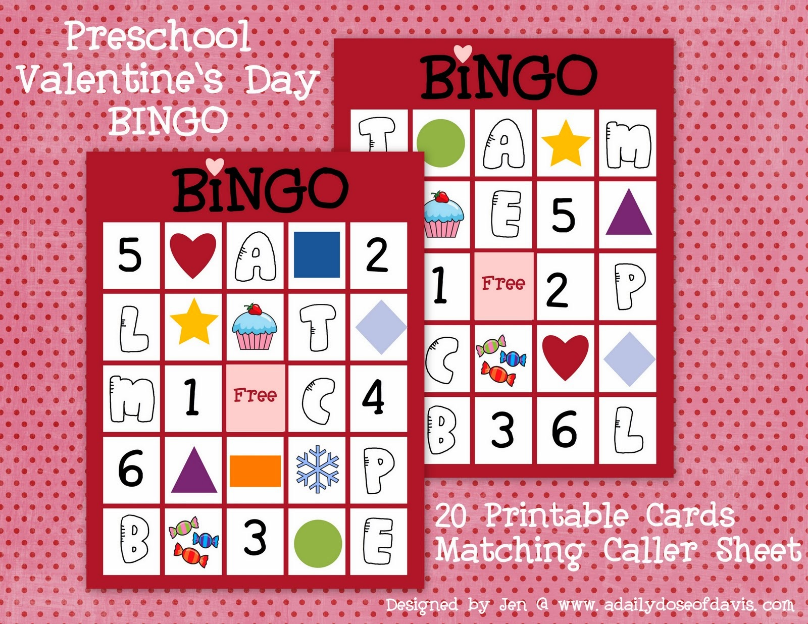 9 Images of Preschool Valentine Bingo Printable Game