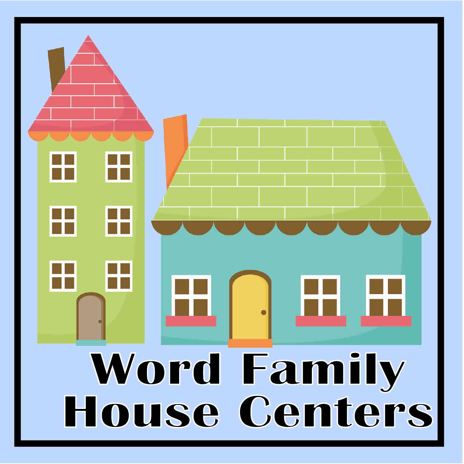 6 Images of Printable Word Family House
