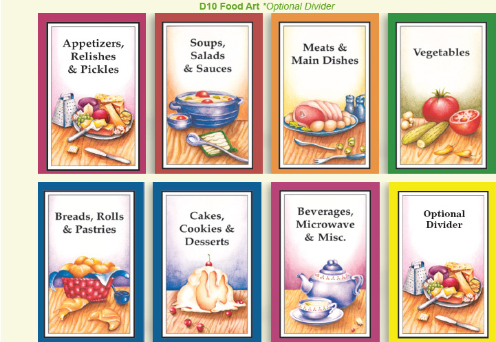 Cookbook Covers Free Templates : Best images of free printable cookbook divider tabs