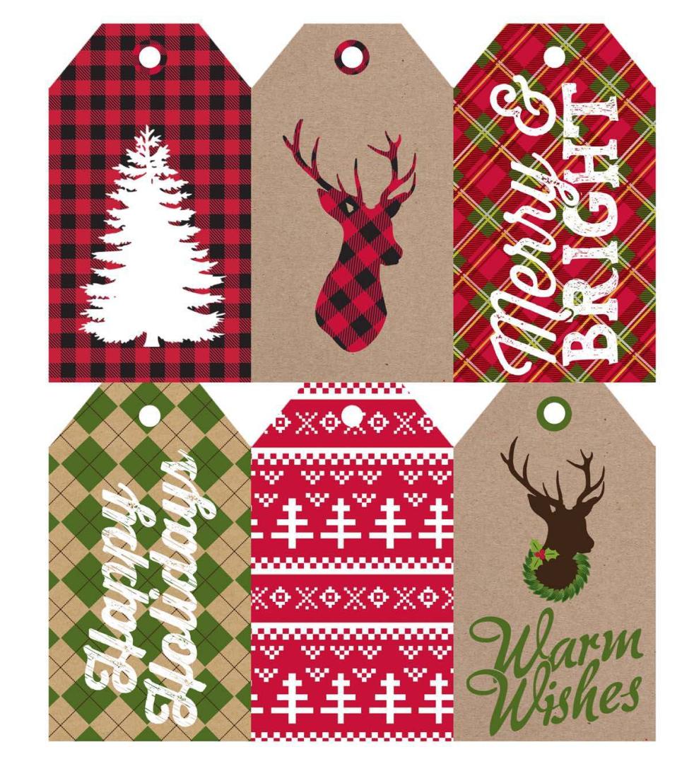 Rustic Printable Christmas Labels