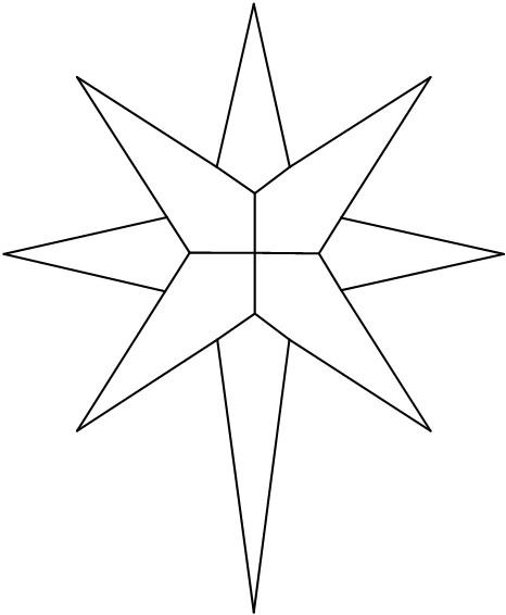 6 best images of fancy christmas star template printable for Star template free