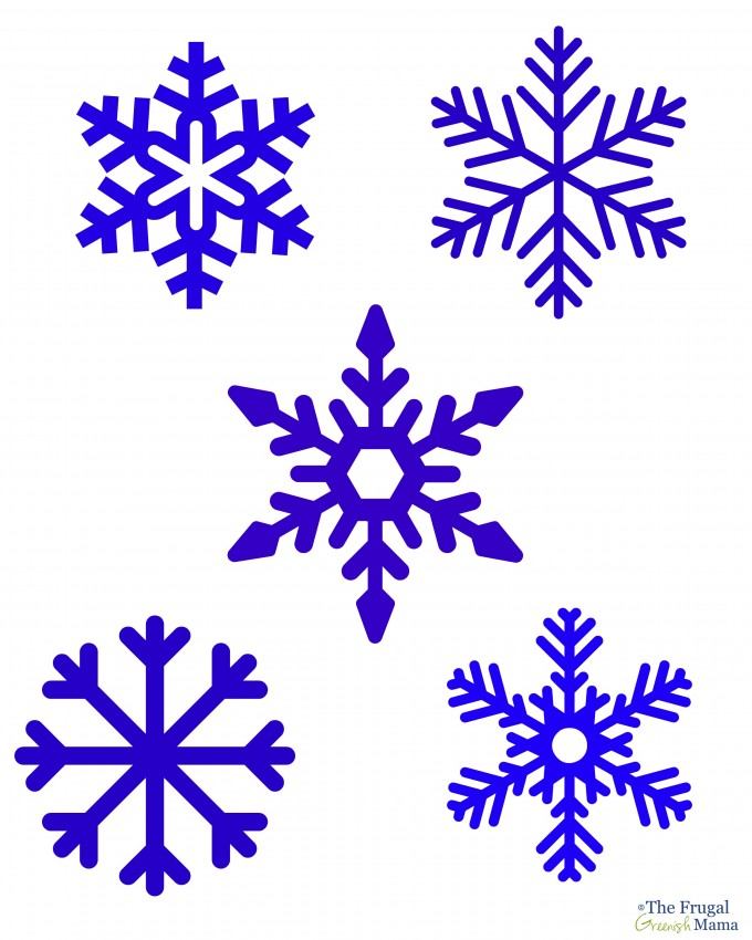 6 Images of Printable Snowflake Tracers
