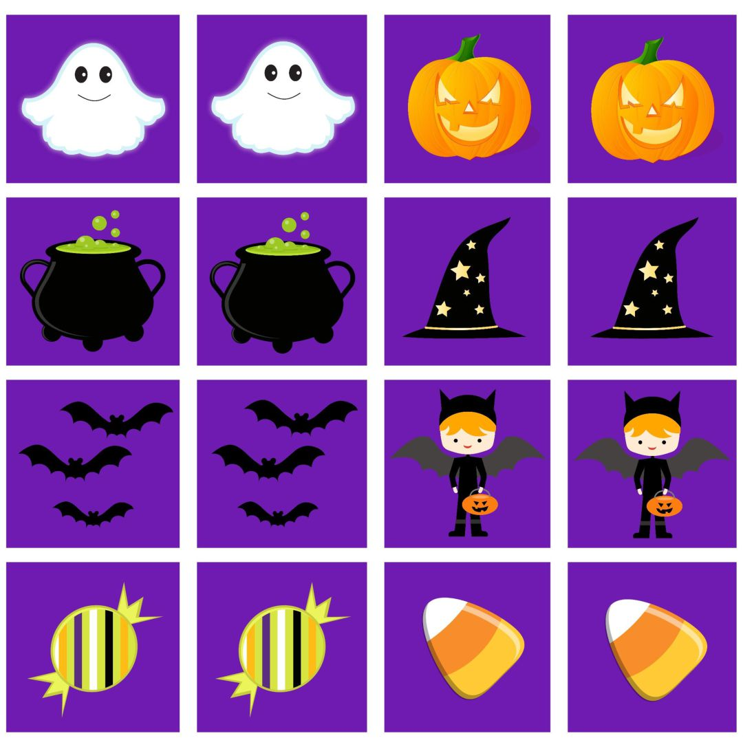 Halloween Memory Game Card