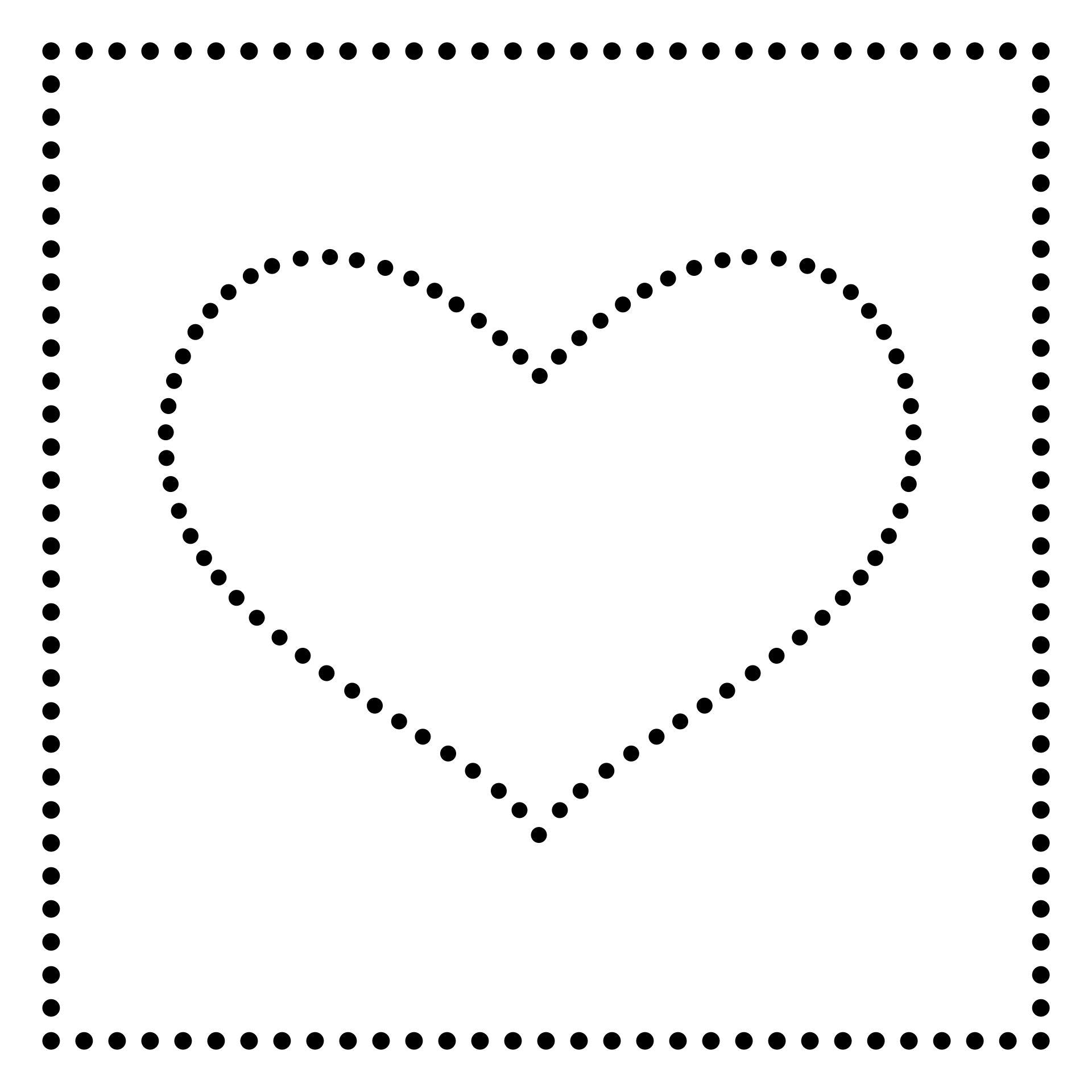 Heart String Art Template