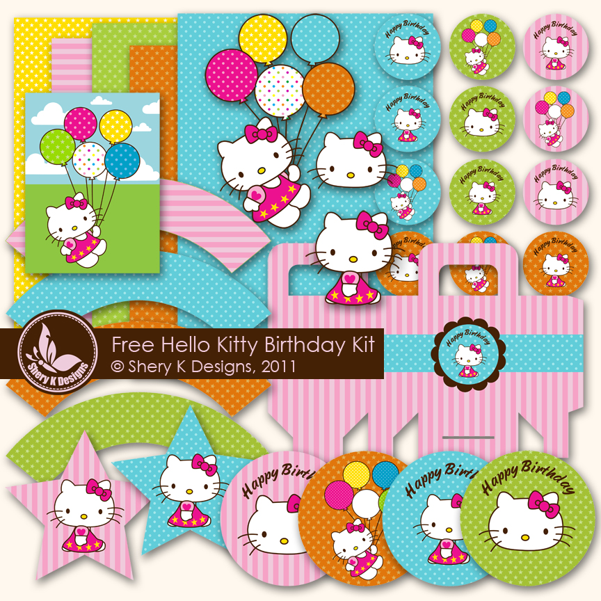 4 Images of Hello Kitty Party Printables Free