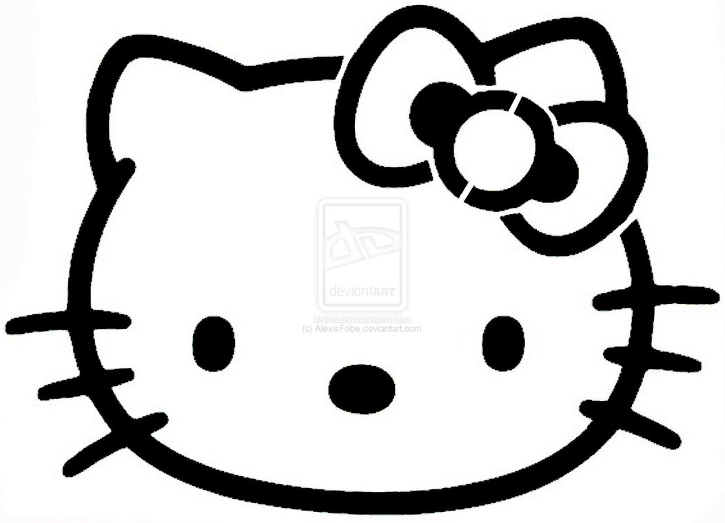 6 best images of hello kitty stencil printable hello for Hello kitty coloring pages print