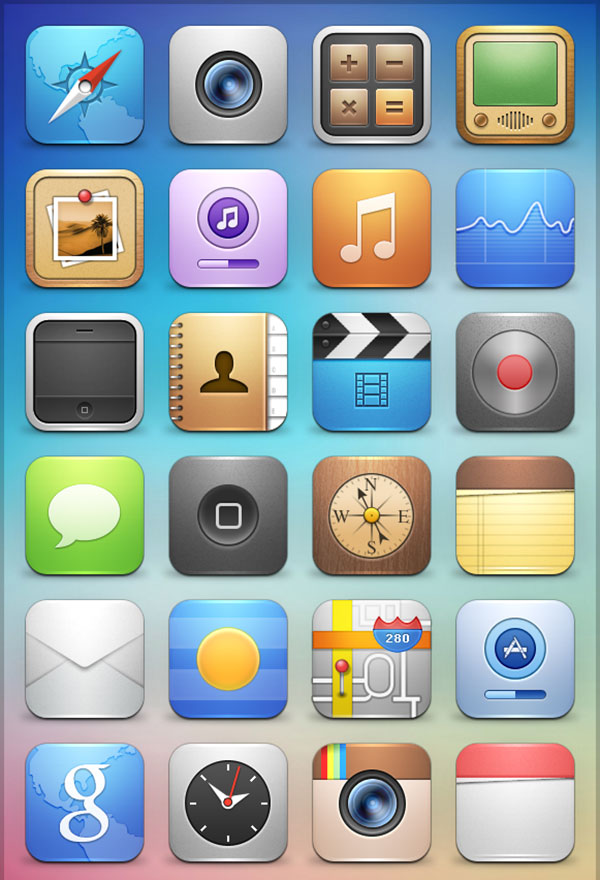 6 Images of Printable IPad Icons