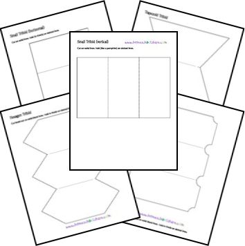 8 Images of Printable Foldables Lapbook Templates