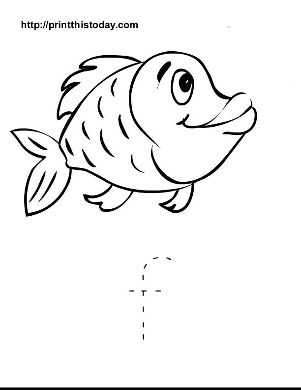 7 Images of Printable Preschool Worksheets Letter Fish