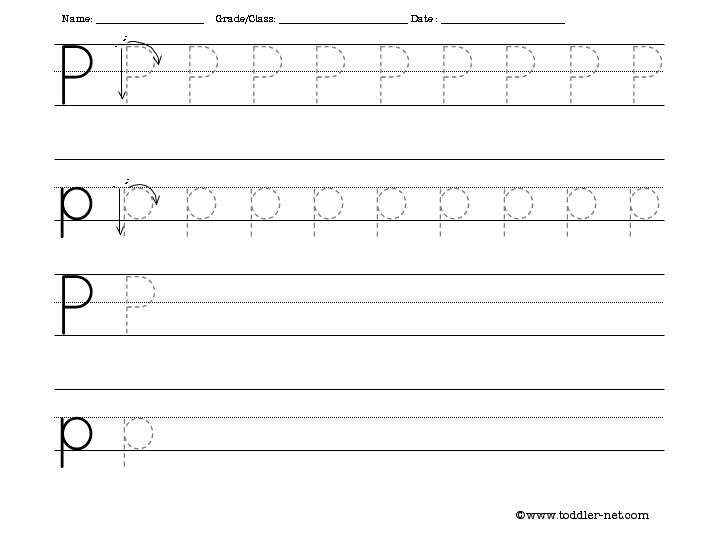 Free Worksheets » Letter Handwriting Sheets - Free Printable ...