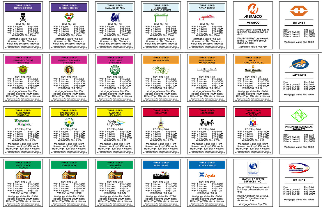 6 best images of monopoly property cards printable