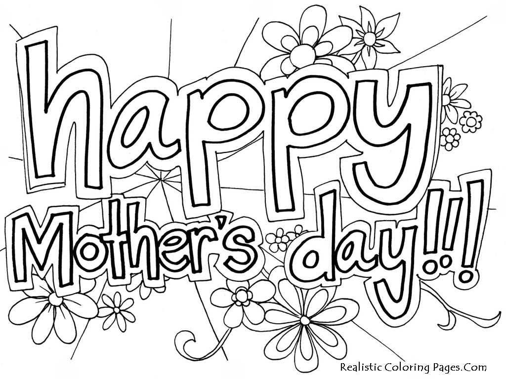 4 Images of Free Printable Mother's Day Coloring Pages