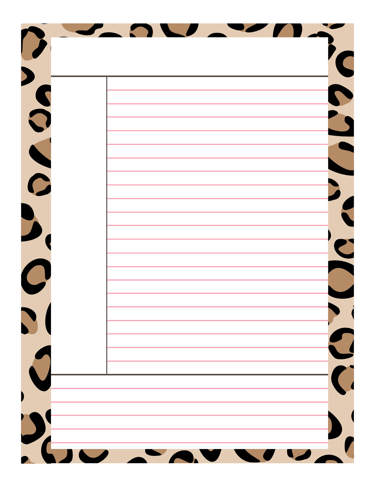 7 Best Images Of Cute Printable Note Taking Sheets Note