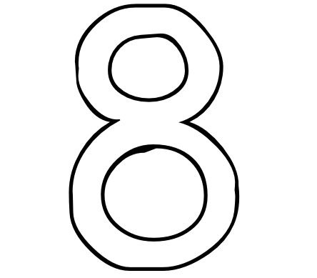 6 best images of printable coloring numbers 8 number 8 for Number 8 coloring page