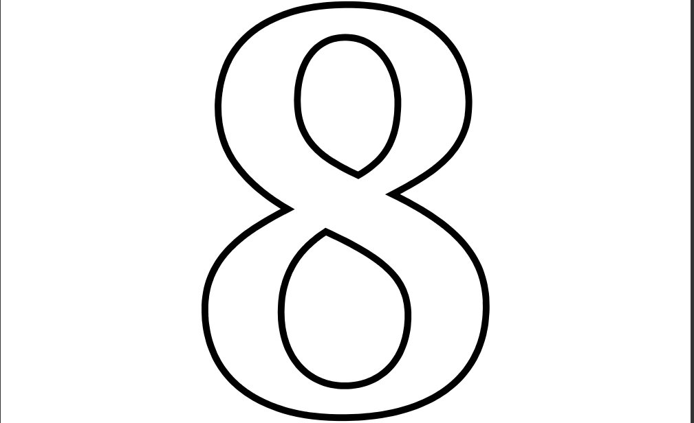 6 Images of Printable Coloring Numbers 8