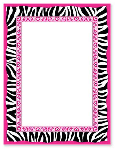 8 Images of Printable Zebra Print Border