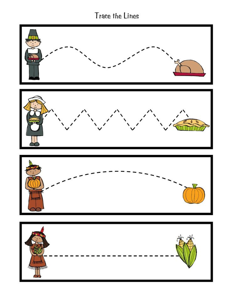 4 Images of Preschool Printables Thanksgiving Food Activities