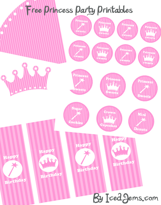 5 Images of Princess Birthday Party Free Printables