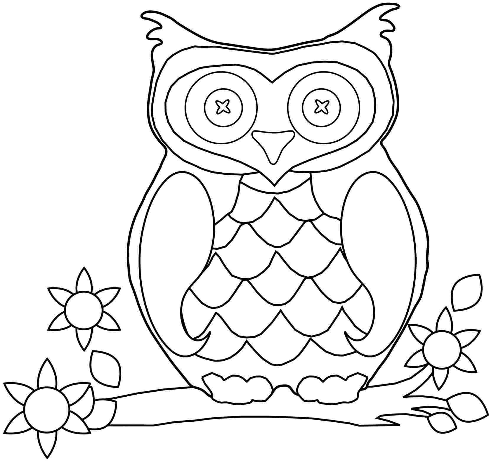 Printable Animal Coloring Pages Owl