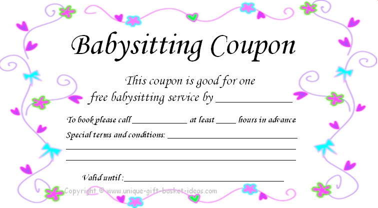 5 Images of Free Printable Babysitting Certificate