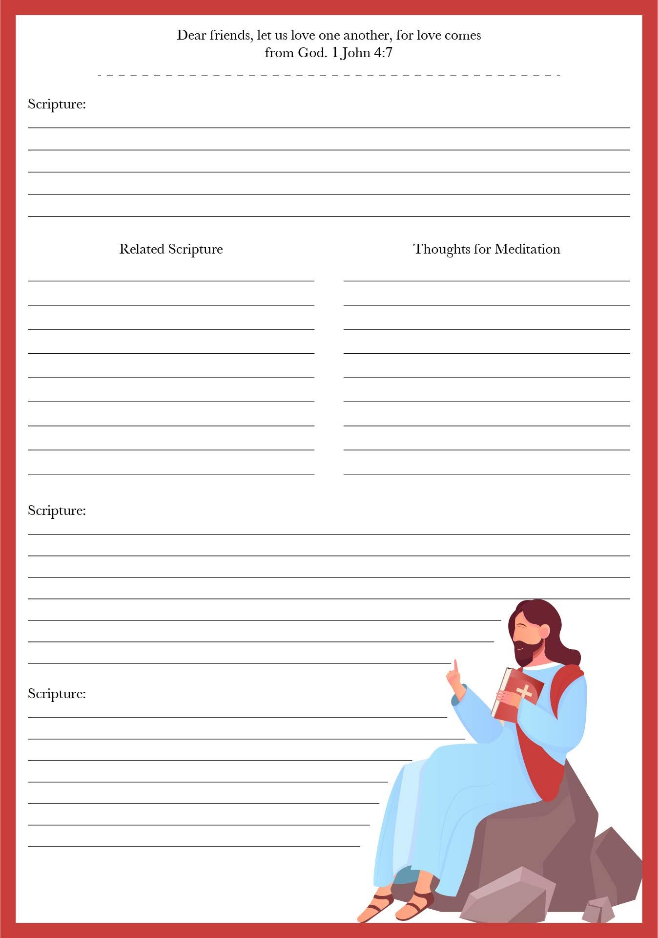 Printable Bible Study Note Sheets