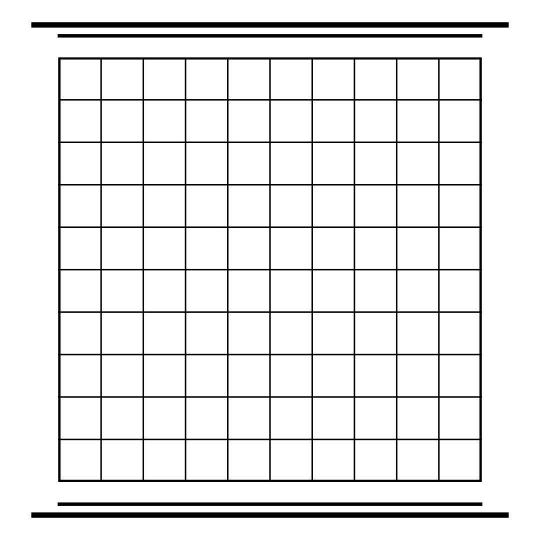 Printable Blank 100 Square Grid